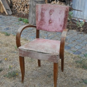 Originele Bridge Chair in roze fluweel