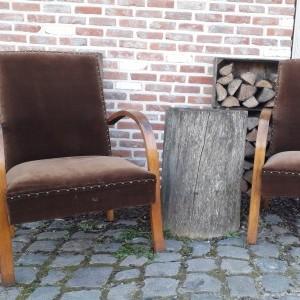 Twee leuke Bridge fauteuils, jaren '50